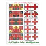Flags of the Irish Brigade of France -Small Poster
