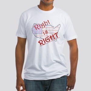Right is Right Fitted T-Shirt