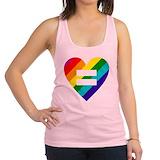 Gay pride flag Womens Racerback Tanktop
