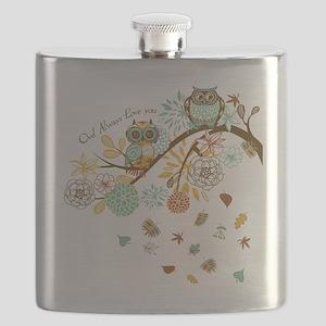 Autumn Owl Flask