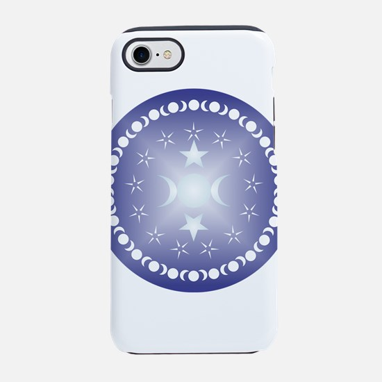 Triple Moon Goddess In Blue iPhone 7 Tough Case