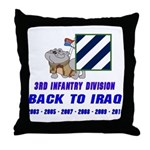 Back to Iraq Throw Pillow