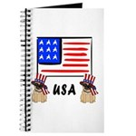 Patriotic Usa Pug Dogs Journal