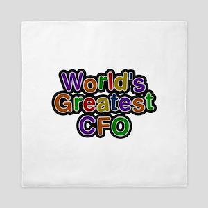 World's Greatest CFO Queen Duvet