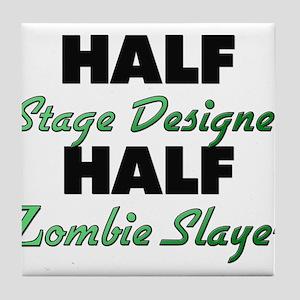 Half Stage Designer Half Zombie Slayer Tile Coaste