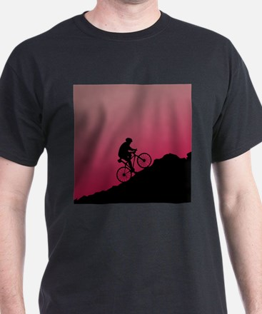 Mountain Biking (Pink) T-Shirt