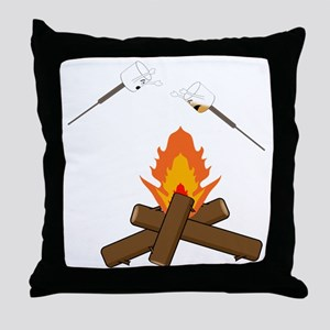 marshmallow hell Throw Pillow