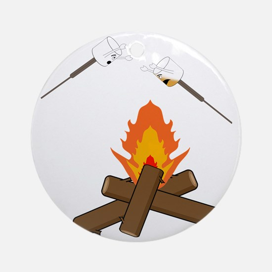 marshmallow hell Round Ornament