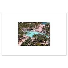 Paradise Island Pool - Large Poster