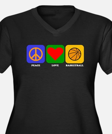 Peace Love Basketball Plus Size T-Shirt