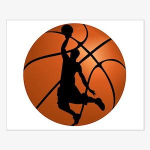 Basketball Dunk Silhouette Poster Design