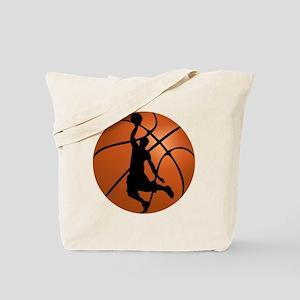 Basketball Dunk Silhouette Tote Bag
