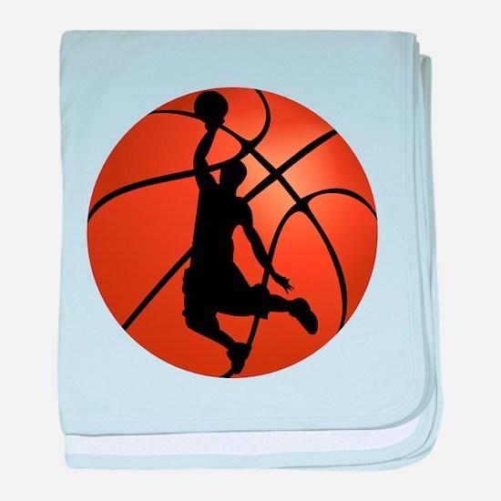Basketball Dunk Silhouette baby blanket