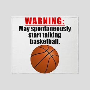 Spontaneous Basketball Talk Throw Blanket