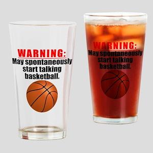 Spontaneous Basketball Talk Drinking Glass