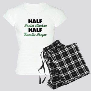 Half Social Worker Half Zombie Slayer Pajamas