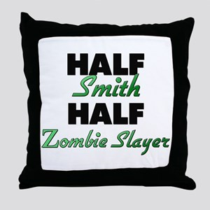 Half Smith Half Zombie Slayer Throw Pillow