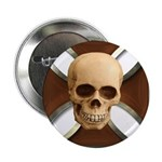 Skull & Cross Button