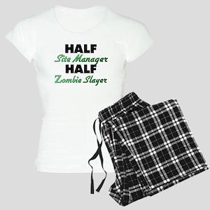 Half Site Manager Half Zombie Slayer Pajamas