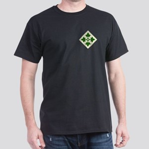 4th INFANTRY DIVISION Black T-Shirt