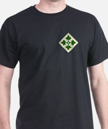 4th INFANTRY DIVISION Black T-Shirt