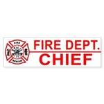 Fire Chief Bumper Sticker