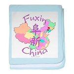 Fuxin China Map baby blanket