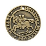 Templar Seal Ornament (Round)
