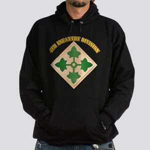 SSI - 4th Infantry Division with text Hoodie (dark