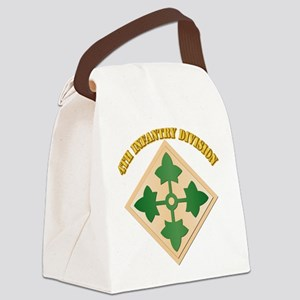 SSI - 4th Infantry Division with text Canvas Lunch