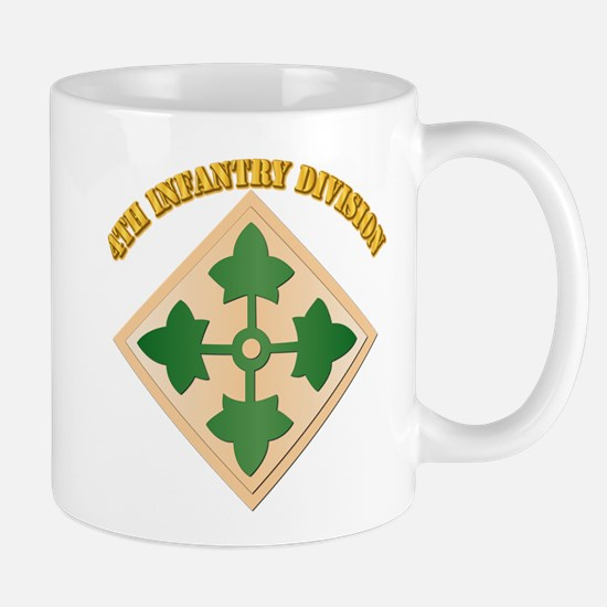 SSI - 4th Infantry Division with text Mug