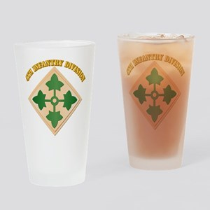 SSI - 4th Infantry Division with text Drinking Gla