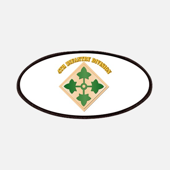 SSI - 4th Infantry Division with text Patches