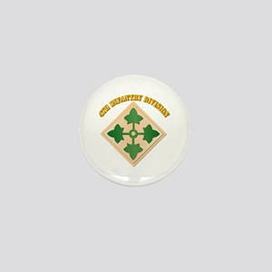 SSI - 4th Infantry Division with text Mini Button