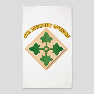 SSI - 4th Infantry Division with text 3'x5' Area R