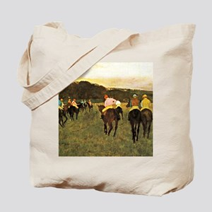 Degas - Racehorses at Longchamp Tote Bag