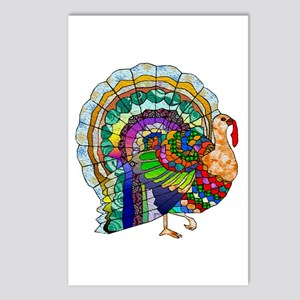 Patchwork Thanksgiving Turkey Postcards (Package o