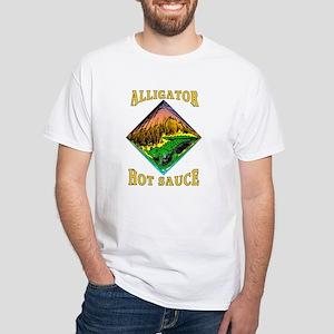 Alligator Hot Sauce White T-Shirt