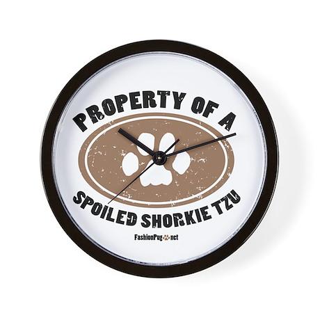 Shorkie Tzu dog Wall Clock