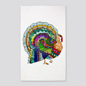 Patchwork Thanksgiving Turkey 3'x5' Area Rug