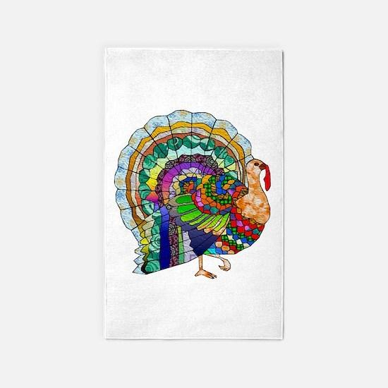 Patchwork Thanksgiving Turkey 3'x5' Area Rug