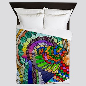 Patchwork Thanksgiving Turkey Queen Duvet