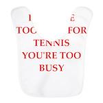 tennis Polyester Baby Bib