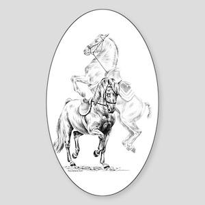 Elegant Horse Oval Sticker