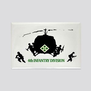 4th INFANTRY DIVISION Rectangle Magnet (10 pack)