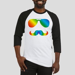 Pride sunglasses Rainbow mustache Baseball Jersey