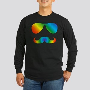 Pride sunglasses Rainbow musta Long Sleeve T-Shirt