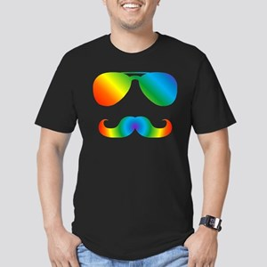 Pride sunglasses Rainbow mustache T-Shirt