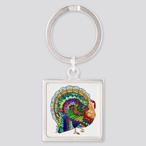 Patchwork Thanksgiving Turkey Keychains