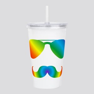 Pride sunglasses Rainb Acrylic Double-wall Tumbler